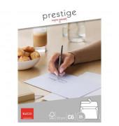 Briefumschläge Prestige C6 ohne Fenster haftklebend 120g weiß 25 Stück