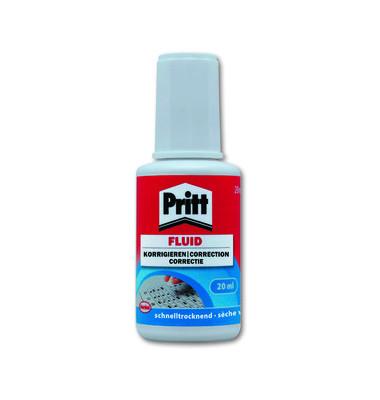 Korrekturflüssigkeit mit Pinsel 20ml weiß
