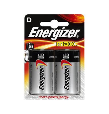Batterie Max Mono / LR20 / D 2 Stück