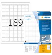 Etiketten 10001 25,4 x 10 mm weiß 4725 Stück ablösbar