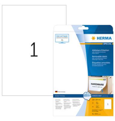 Etiketten 10021 210 x 297 mm weiß 25 Stück ablösbar