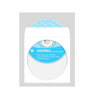 CD/DVD Hüllen Papier m.fenster selbstklebend weiß 124x124mm 1000 Stück