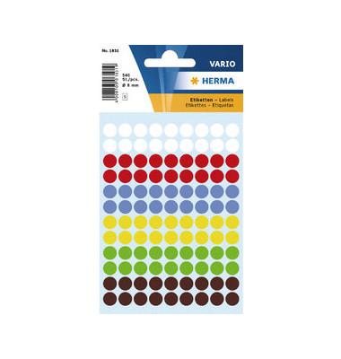 Markierungspunkte 1831 farbig sortiert Ø 8mm 540 Stück