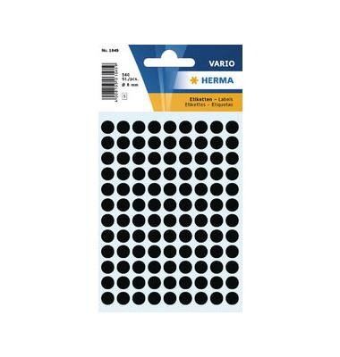 Markierungspunkte 1849 schwarz Ø 8mm 540 Stück