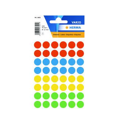 Markierungspunkte 1851 farbig sortiert Ø 12mm 240 Stück