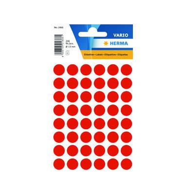 Etiketten rund leuchtrot 12mm 240 St