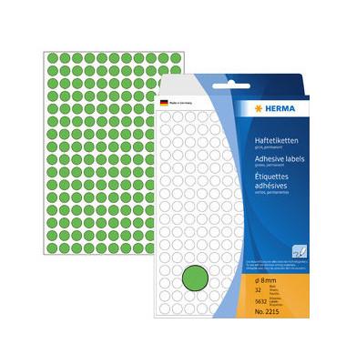 Markierungspunkte 2215 grün Ø 8mm 5632 Stück