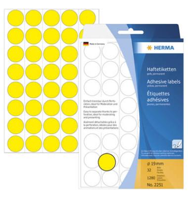 Markierungspunkte 2251 gelb Ø 19mm 1280 Stück