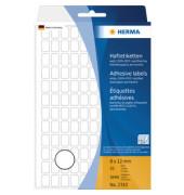 Haftetiketten 2310 8 x 12 mm weiß 3840 Stück