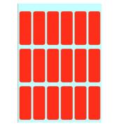 Haftetiketten ROT 3652 12 x 34 mm 90 Stück