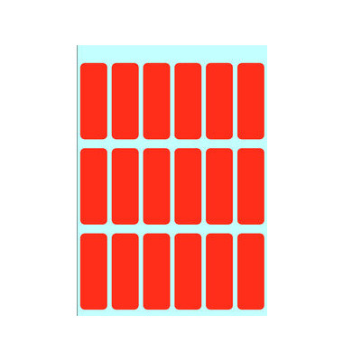 Etiketten ROT 3652 12 x 34 mm 90 Stück