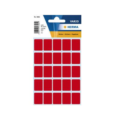 Etiketten Sticker ROT 3662 15 x 20 mm 125 Stück