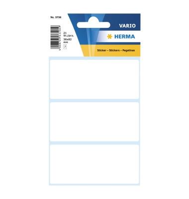 Etiketten Vario 3756 36 x 82 mm weiß 21 Stück