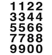 Nummernetiketten 0-9 transp. 20x18mm 10 St
