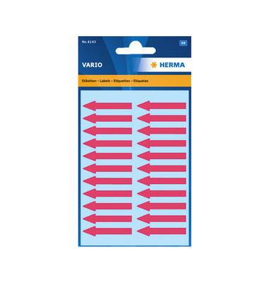 Etiketten Pfeile ROT 4143 38 x 7 mm 88 Stück VARIO Hinweisetiketten