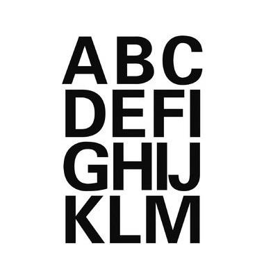 Buchstaben A-Z Folie schwarz 25mm 4167