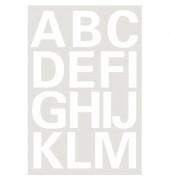 4169 Buchstaben 25 mm A-Z Folie wetterfest weiß 2 Bl.