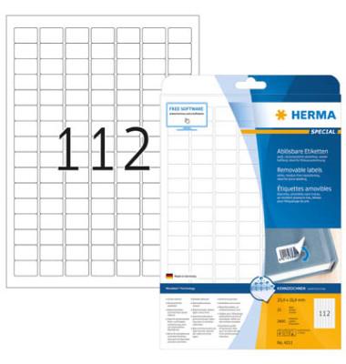 Etiketten 4211 25,4 x 16,9 mm weiß 2800 Stück Special ablösbar