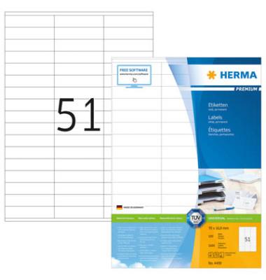 Etiketten 4459 70 x 16,9 mm weiß 5100 Stück Premium