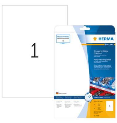 Etiketten 4698 210 x 297 mm weiß Folie 25 Stück strapazierfähig wetterfest