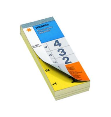 Nummernblock 1-500 SK gelb 28 x 56 mm doppelt