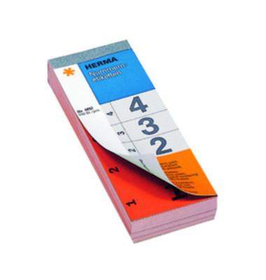 Nummernblock 1-500 SK rot 28 x 56 mm doppelt