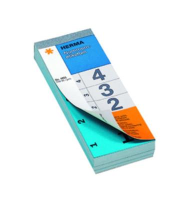 Nummernblock 1-500 SK blau 28 x 56 mm doppelt