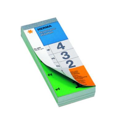 Nummernblock 1-500 SK grün 28 x 56 mm doppelt