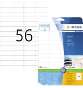Etiketten 5052 52,5 x 21,2 mm weiß 1400 Stück Premium STAMPIT