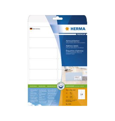 5076 Adressetiketten 99,1 x 38,1 mm weiß 350 Stück Superprint