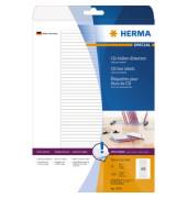 Etiketten 5078 114,3 x 5,5 mm weiß Superprint 1200 Stück für CD Hüllen