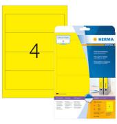 Ordneretiketten 5096 61 x 192 mm gelb zum aufkleben 80 Stück