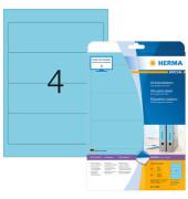 Ordneretiketten 5098 61 x 192 mm blau zum aufkleben 80 Stück