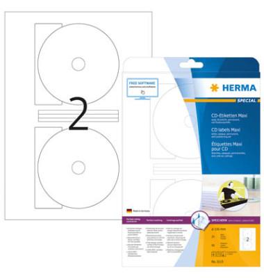 CD Etiketten Maxi 5115 Ø 116 mm weiß 50 Stück
