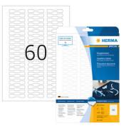 Preisauszeichnungsetiketten weiß 49 x 10mm 5116 1500 Stück