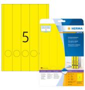 Ordneretiketten 38 x 297 mm gelb 100 Stück zum aufkleben