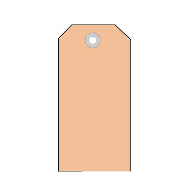 Anhängezettel mit Kunststofföse braun 60 x 113mm 6018