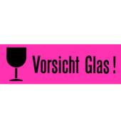 """Versandzettel selbstklebend """"Vorsicht Glas"""" rot/schwarz 39x118mm 6750 1000 Stück"""