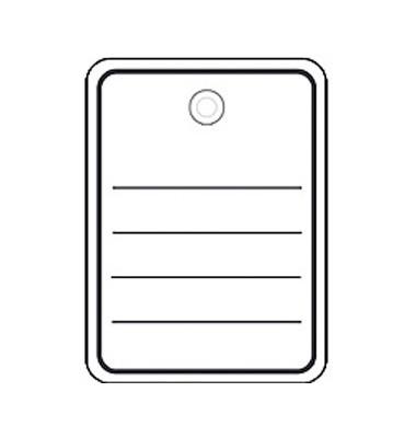 Stückwarenanhänger in weiß mit Ösen 48 x 65mm 6842
