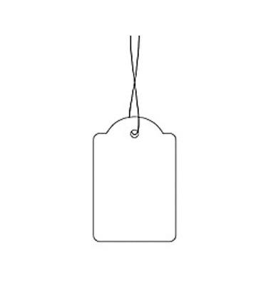 Hängeetiketten m.weißem Faden 18x28mm 1000 St