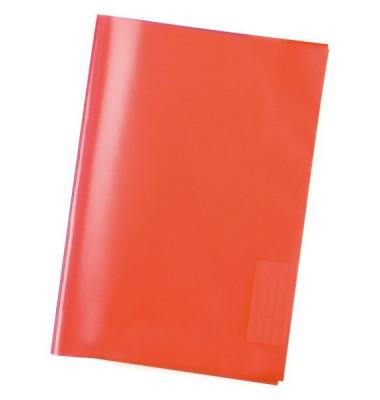 Heftschoner 7482 A5 Folie transparent rot