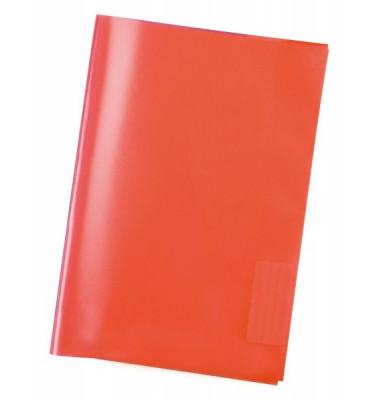 Heftschoner 7492 A4 Folie transparent rot