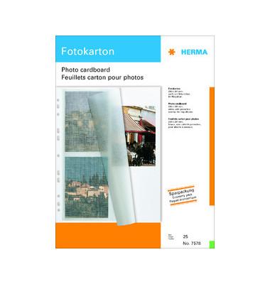 Fotokarton weiß 25 Blatt