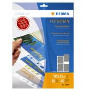 Postkartenhuellen f. 4 WPK f. 10x15cm 10 St