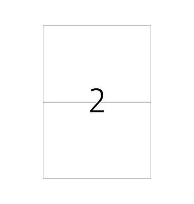Etiketten 8402 210 x 148,5 mm weiß 500 Blatt 1000 Stück