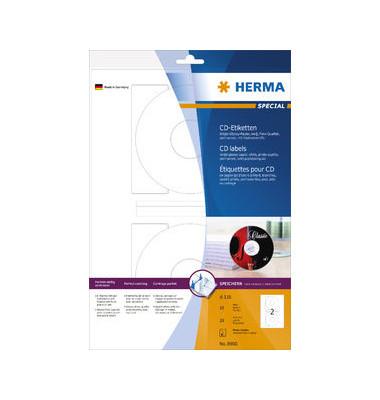 CD Etiketten 8900 Ø 116 mm weiß 20 Stück