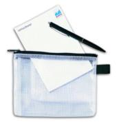 Reißverschlusstasche Mesh Bag PVC A6 170x130mm farblos/schwarz 10 Stück