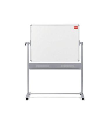 Whiteboard Mobil 150 x 120cm lackiert Aluminiumrahmen drehbar beidseitig
