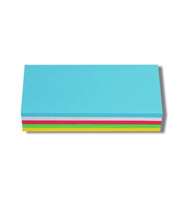 Moderationskarten Rechtecke farbig sortiert 20,5x9,5cm 250 Stück