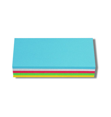 Moderationskarten Papier sortiert 9,5 x 20,5cm 250 St